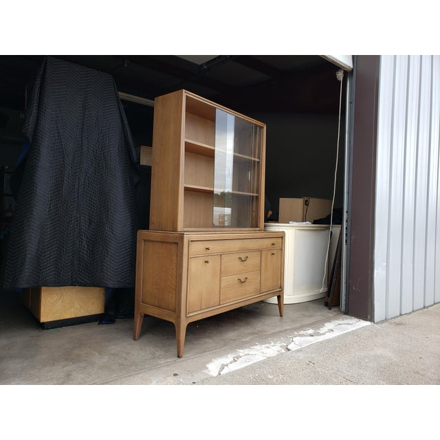 Mid-Century Modern Vintage 1960's Century Furniture China Cabinet For Sale - Image 3 of 10