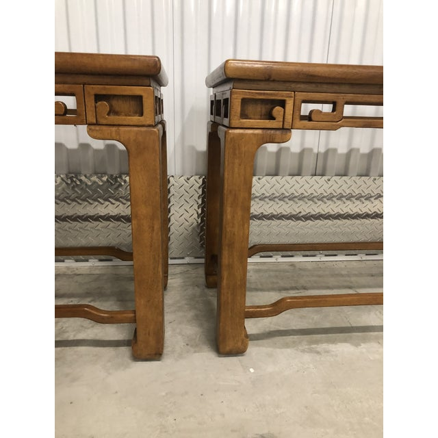 1970s 1970s Chinese Style Sofa Console Tables - a Pair For Sale - Image 5 of 12