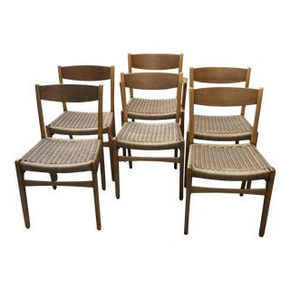 Vintage Frem Rojle Danish Mid-Century Modern Dining Chairs - Set of 6 For Sale