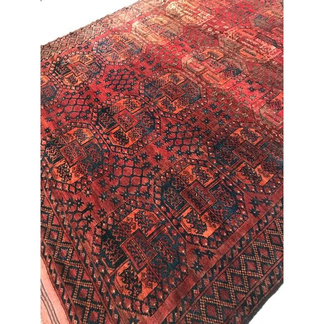 Vintage Handwoven Afghan Rug - 8′ × 10′6″ - Image 6 of 9