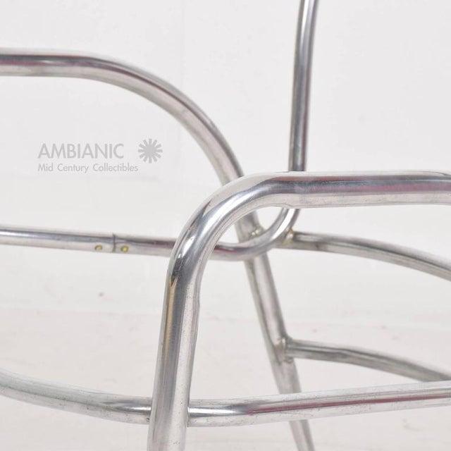 Metal Pair of Sculptural Brown Jordan Aluminum Patio Chairs After Walter Lamb For Sale - Image 7 of 10