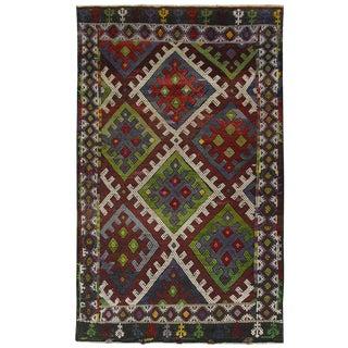 Vintage Turkish Kilim Flatweave Rug - 4'3 x 7'