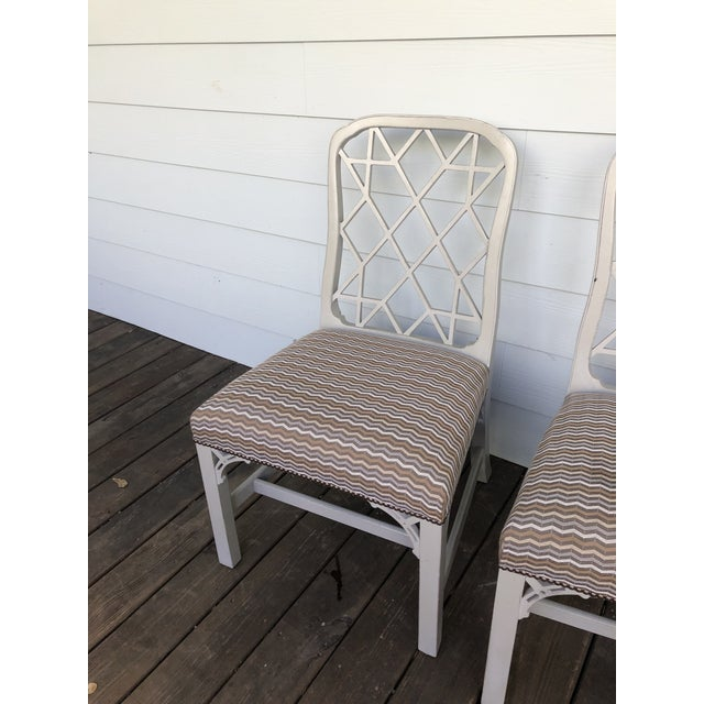 Hickory Furniture Linwood Chippendale Chairs- Set of 4 For Sale - Image 9 of 11