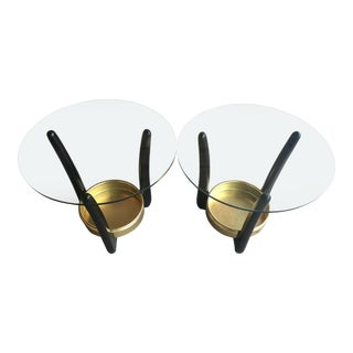 1950s Mid-Century Modern Kroehler in the Style of Adrian Pearsall Accent/Side Tables - a Pair For Sale