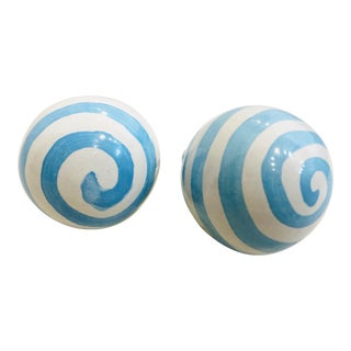 MacKenzie-Childs Dot Knobs - a Pair For Sale