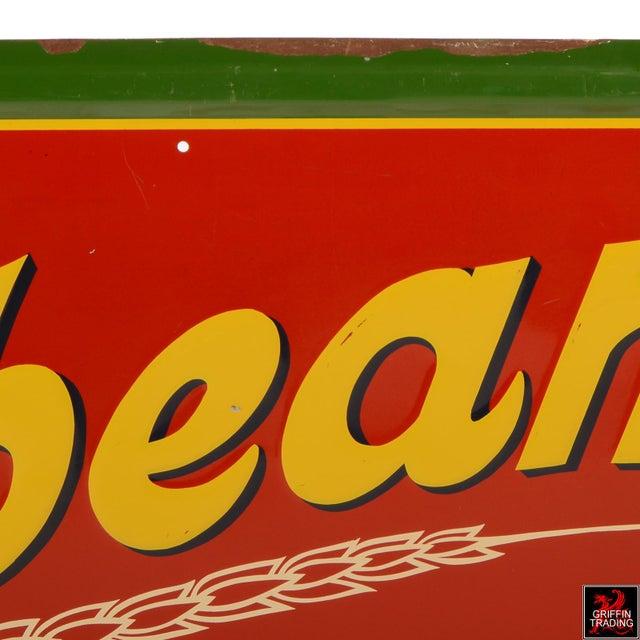 Metal Vintage Sunbeam Bread Sign For Sale - Image 7 of 10