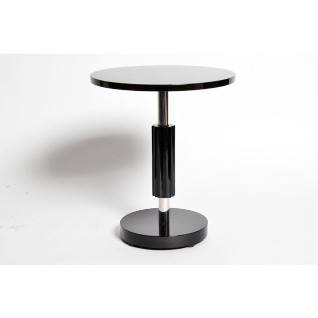 Art Deco Style Round Table with Metal Post For Sale - Image 4 of 11