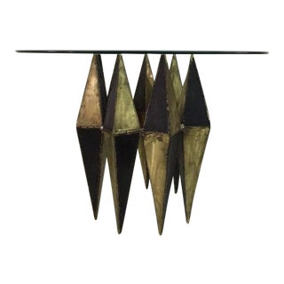 Brutal Bronze and Brass Diamond Gueridon