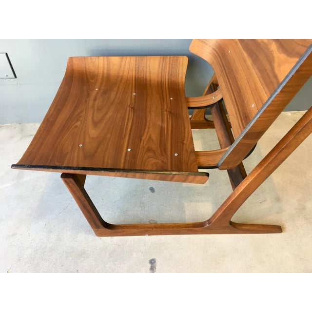 Grete Jalk Style Mid-Century Bent Walnut Side Chair - Image 10 of 10
