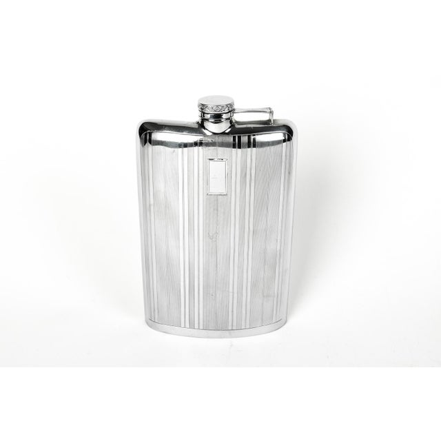 Early 20th Century Sterling Silver Flask For Sale - Image 5 of 5