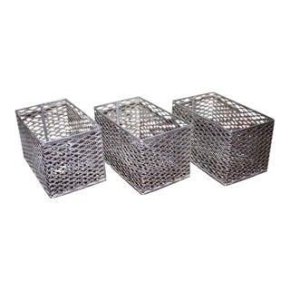Aluminum Bins - Set of 3