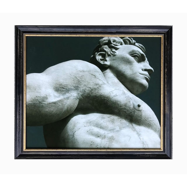 Black James White Statuary at the Stadio Dei Marmi, Rome Photograph For Sale - Image 8 of 8