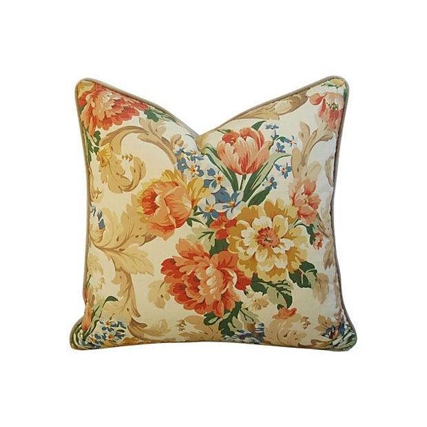 Designer Italian Linen & Velvet Pillows - A Pair - Image 3 of 7