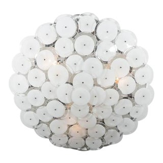 Flush Mount White Disc Fixture For Sale