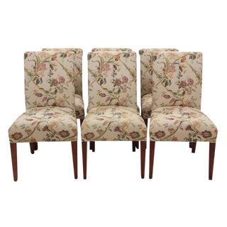 Floral Parson Dining Chairs - Set of 6