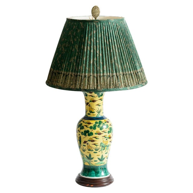 Japanese Kutani Porcelain Vase Table Lamp With Custom Shade, C. 1940 For Sale - Image 13 of 13