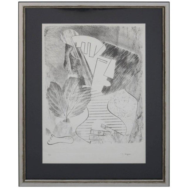 Paper Abstract Portrait Lithograph by David Segel For Sale - Image 7 of 7