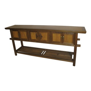 Asian Wooden Butchers Table For Sale