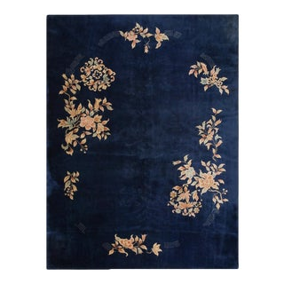 """Antique Chinese Art Deco Rug 8'10"""" X 11'9"""" For Sale"""
