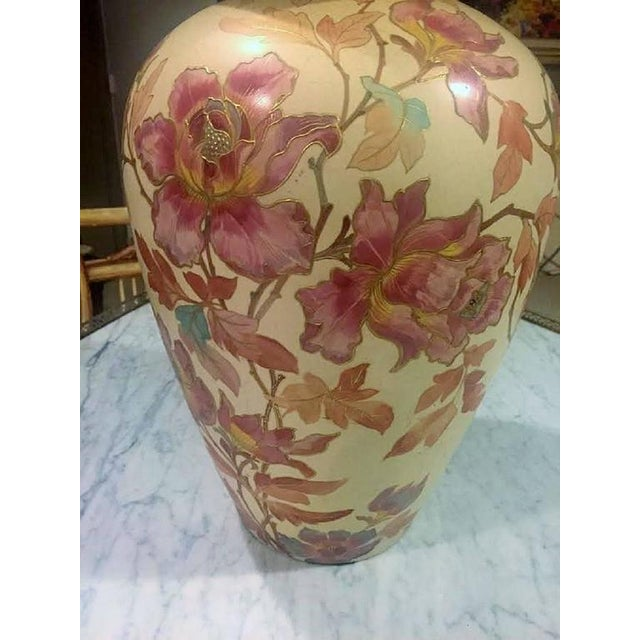 Pointons Floral Pottery Vase - Image 6 of 9