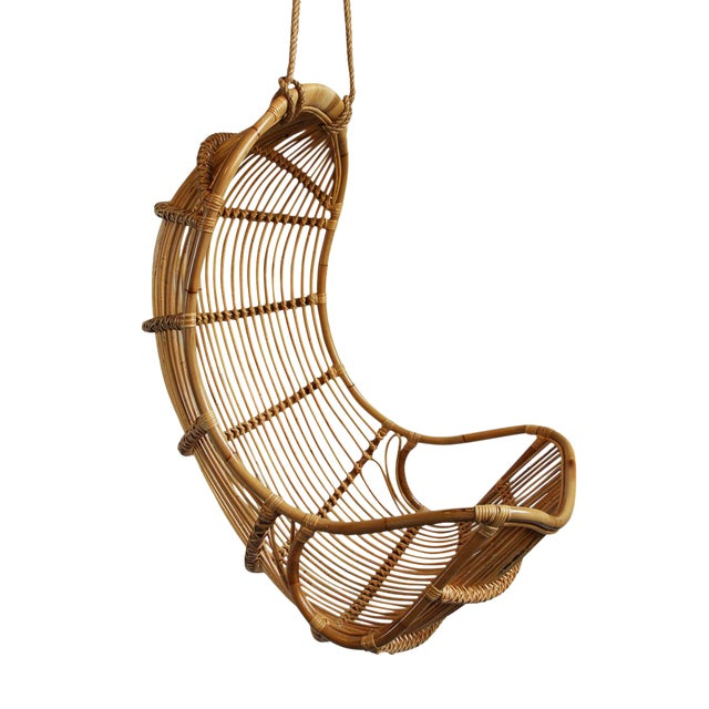 Hanging Bamboo Scoop Chair - Image 1 of 2