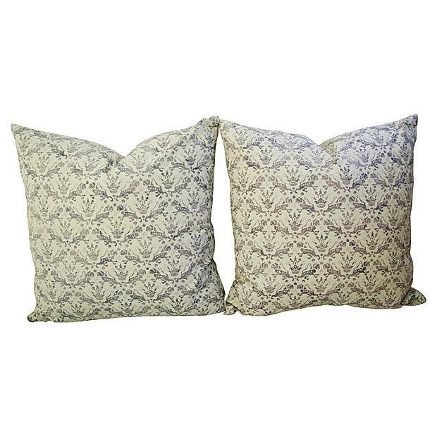Textile Custom Tailored Brunschwig & Fils Royal Imperial Feather/Down Pillows - A Pair For Sale - Image 7 of 7
