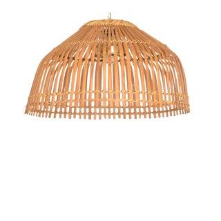 Mid-Century Modern Rattan Pendant Hanging Lamp For Sale