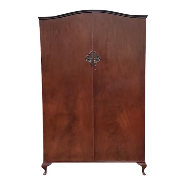 Classic English Regency Style Vintage Armoire C.1950s For Sale