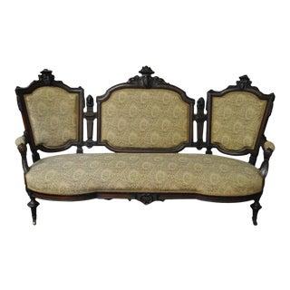 1840s Antique Renaissance Revival Sofa For Sale