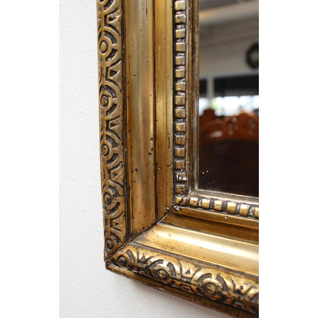 French Federal Gold Gilt Mirror For Sale - Image 5 of 7