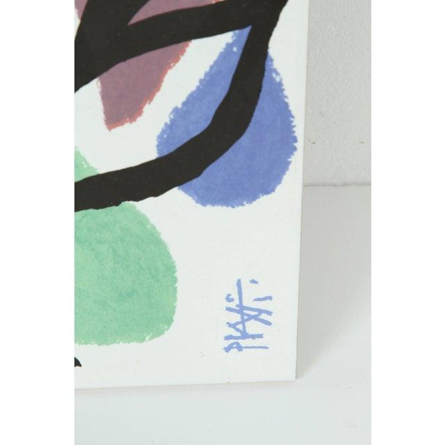 Blue Set of Three Post Modern Celestino Piatti Ceramic Art Tiles For Sale - Image 8 of 10
