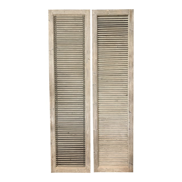 Rustic Driftwood Panels - a Pair For Sale