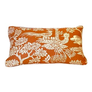 Turkish Quadrille Print Lumbar Pillow For Sale