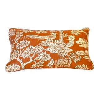 Turkish Quadrille Print Lumbar Pillow For Sale
