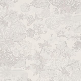 Sample - Schumacher Chiang Mai Dragon Wallpaper in Limestone For Sale