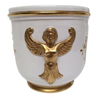 1960s Italian Ugo Zaccagnini Ceramic Plante Cachepot For Sale