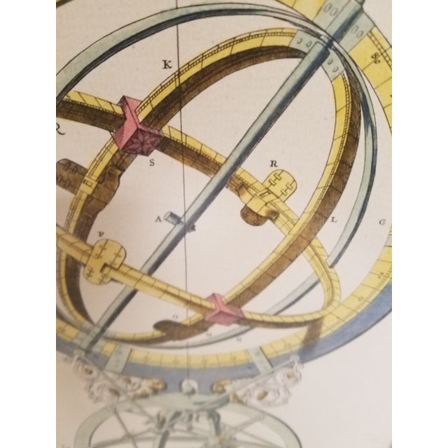 Vintage Hand Colored Armillary Prints - a Pair - Image 7 of 7