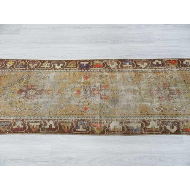 Worn Vintage Turkish Runner Rug - 2′6″ × 8′8″ - Image 4 of 6