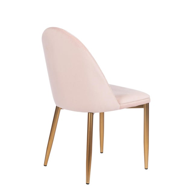 Blush Wave Upholstered Dining Chair For Sale - Image 4 of 6