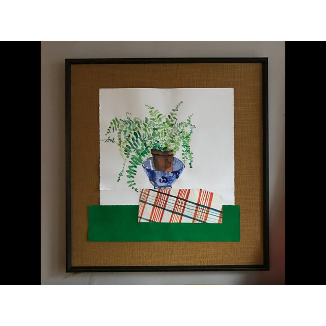 """Scottish Fern"" Watercolor Collage - Image 2 of 4"