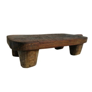 Old Wood Work Stool / Plate