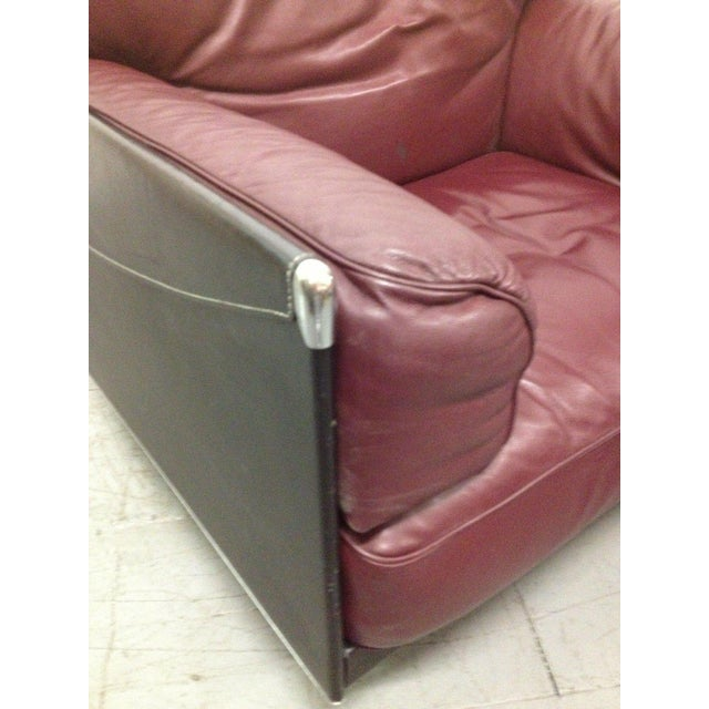 Modern Leather Lounge Chair by Poltrona Frau For Sale - Image 3 of 6