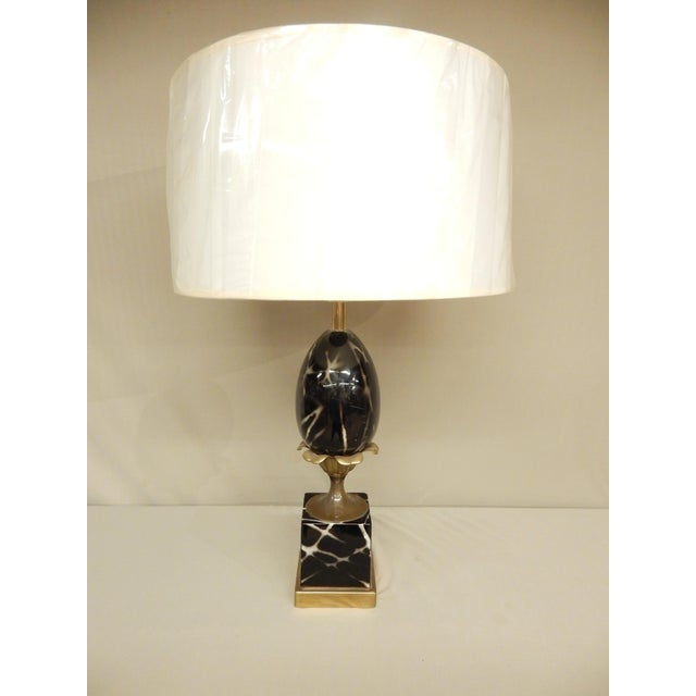 1960s Vintage Ceramic French Table Lamp For Sale - Image 5 of 5
