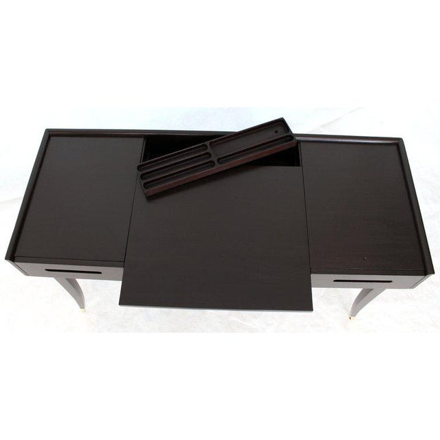 Tommy Parzinger Charak Modern Small Desk Writing Table Console For Sale - Image 9 of 13