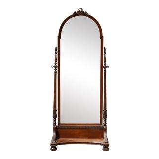 Antique Carved Wood Floor Mirror