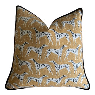 Dalmatian Pillow Cover With Velvet Piping For Sale