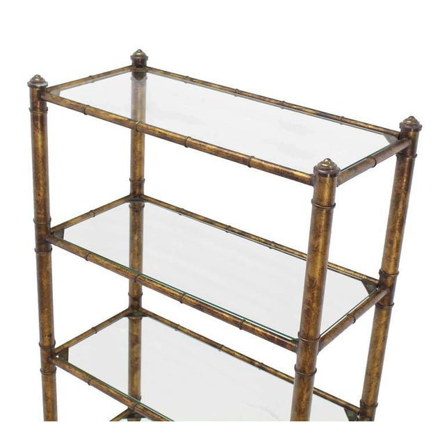 Metal Faux Bamboo Shelf For Sale - Image 4 of 7