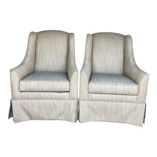 Early 21st Century Ethan Allen Lounge Accent Chairs- A Pair For Sale