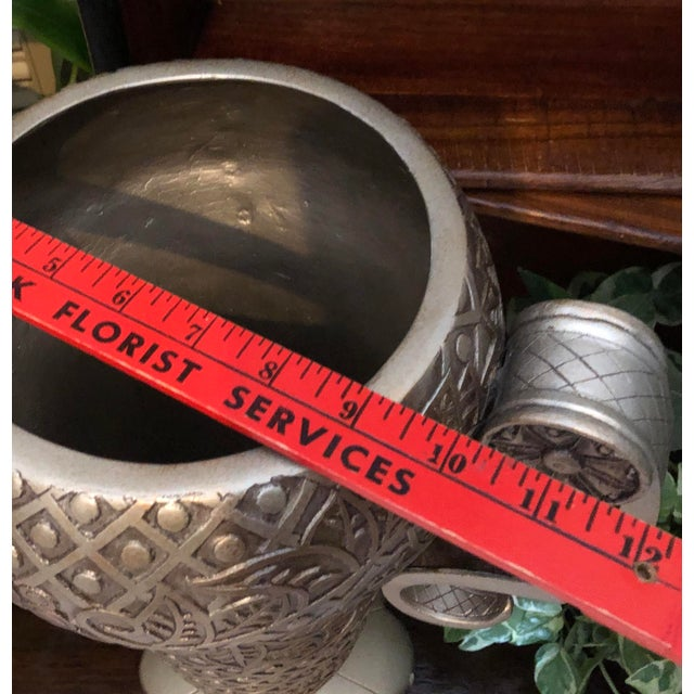Contemporary Mediterranean Uttermost Grecian Urn / Vase With Handles For Sale In Phoenix - Image 6 of 11