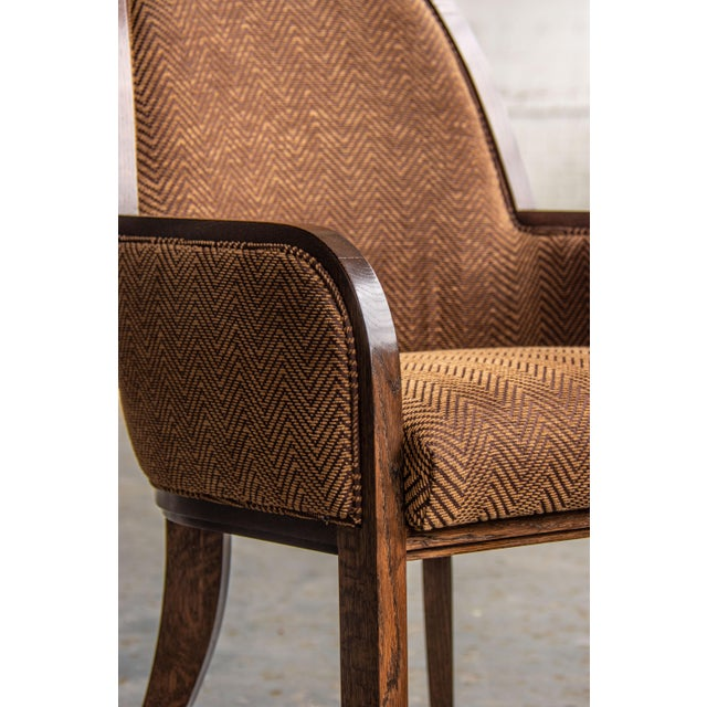 Wood Oak Arm Chair For Sale - Image 7 of 8